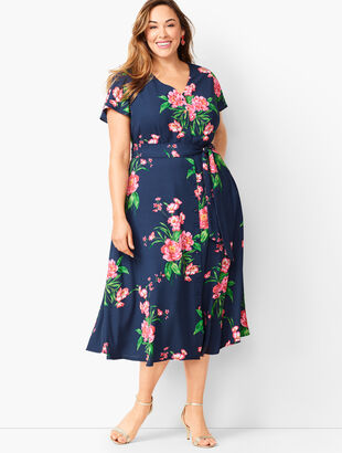 Painterly Floral Fit & Flare Dress
