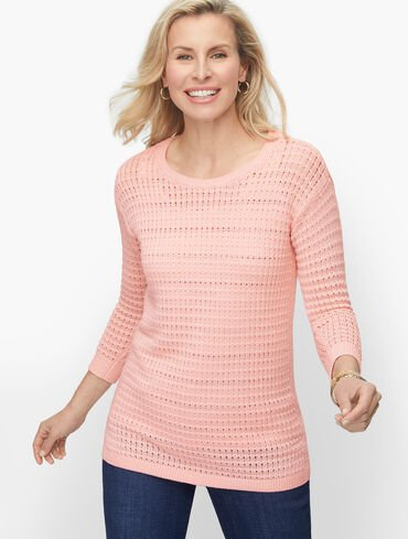 Mixed Yarn Sweater - Solid