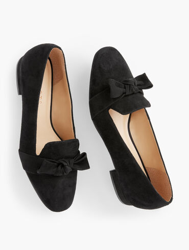 Jane Tie Detail Suede Loafers