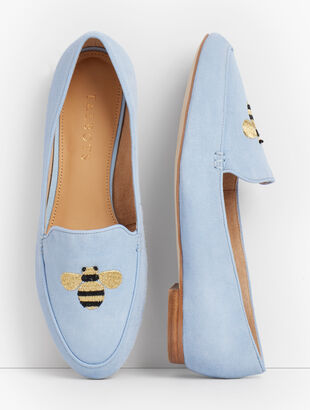 Ryan Loafers - Suede - Bumblebee Embroidered