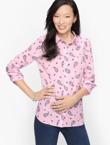 Classic Cotton Shirt - Joyful Paisley