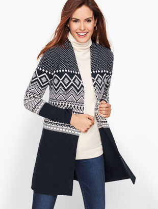 Fair Isle Open Sweater