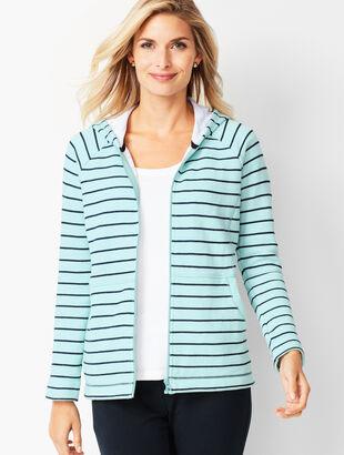 Stripe Cotton Hoodie