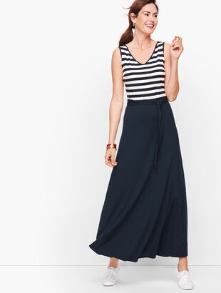 Sunset Stripe Jersey Maxi Dress