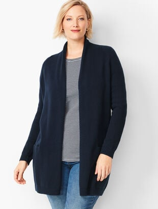 Plus Size Shawl-Collar Duster