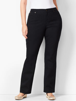 High-Waist Barely Boot Jeans - Curvy Fit/ Black Wash