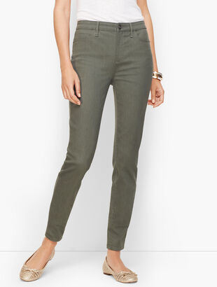 Denim Jeggings - Muted Olive