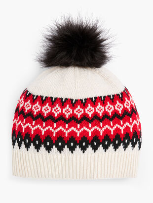 Chalet Fair Isle Pompom Hat
