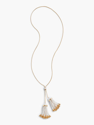 Double-Tassel Necklace