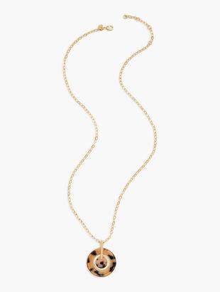Blush Tortoise Pendant Necklace