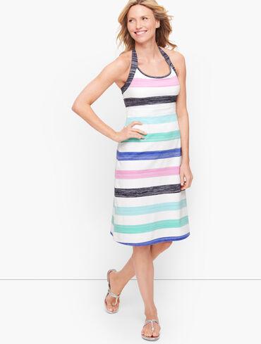 Brushed Stripe Halter Dress