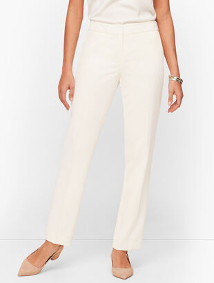 Stretch Crepe Straight Leg Pants