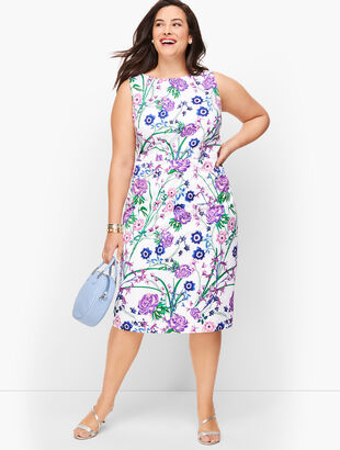 Sateen Botanical Gardens Sheath Dress