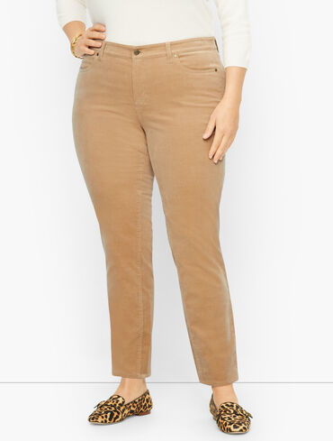 Plus Size Exclusive Stretch Corduroy Jeggings
