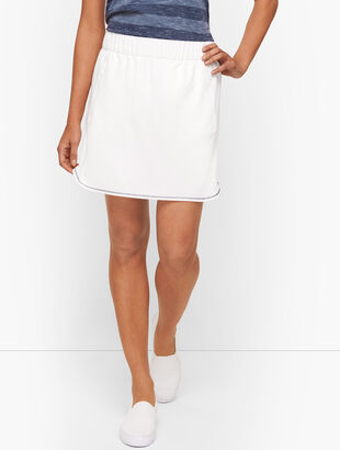 Lightweight Stretch Woven Contrast Trim Skort