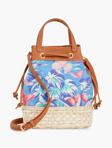 Ratti Tropical Print Drawstring Bucket Bag