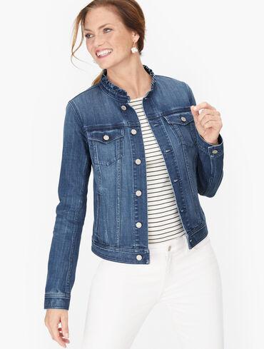 Feminine Collar Jean Jacket - Karissa Wash
