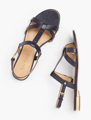 Keri T-Strap Sandals - Nappa Leather