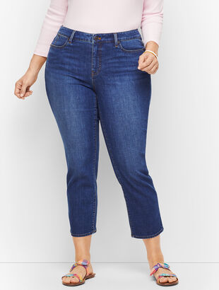 Plus Size Straight Leg Crop Jeans - Curvy Fit - Varick Wash