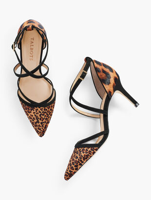 Erica Strappy Pumps - Calf Hair