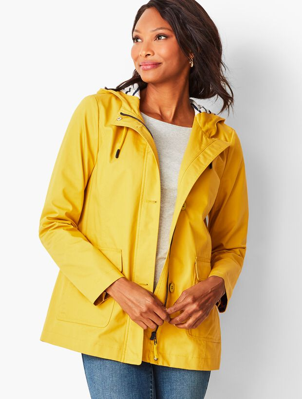 Coated Cotton-Canvas Coat