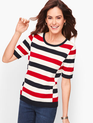 Tricolor Block Stripe Sweater