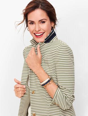 Aberdeen Knit Blazer - Stripe Pique