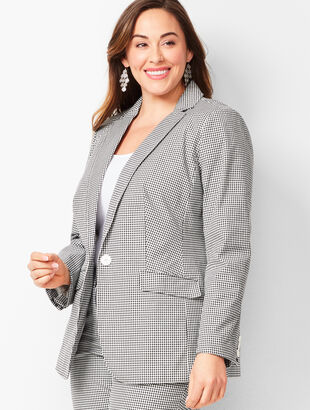 f4912a11460 Tailored Gingham Blazer
