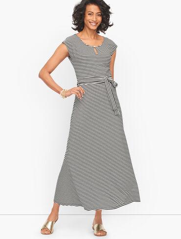 Cotton Maxi Dress - Kalahari Stripe
