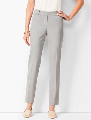 Talbots Hampshire Ankle Pants -  Diamond Grey Chambray
