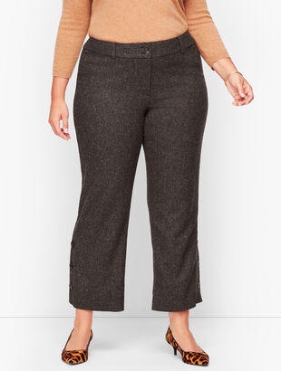 Wool Wide Leg Crop Pants