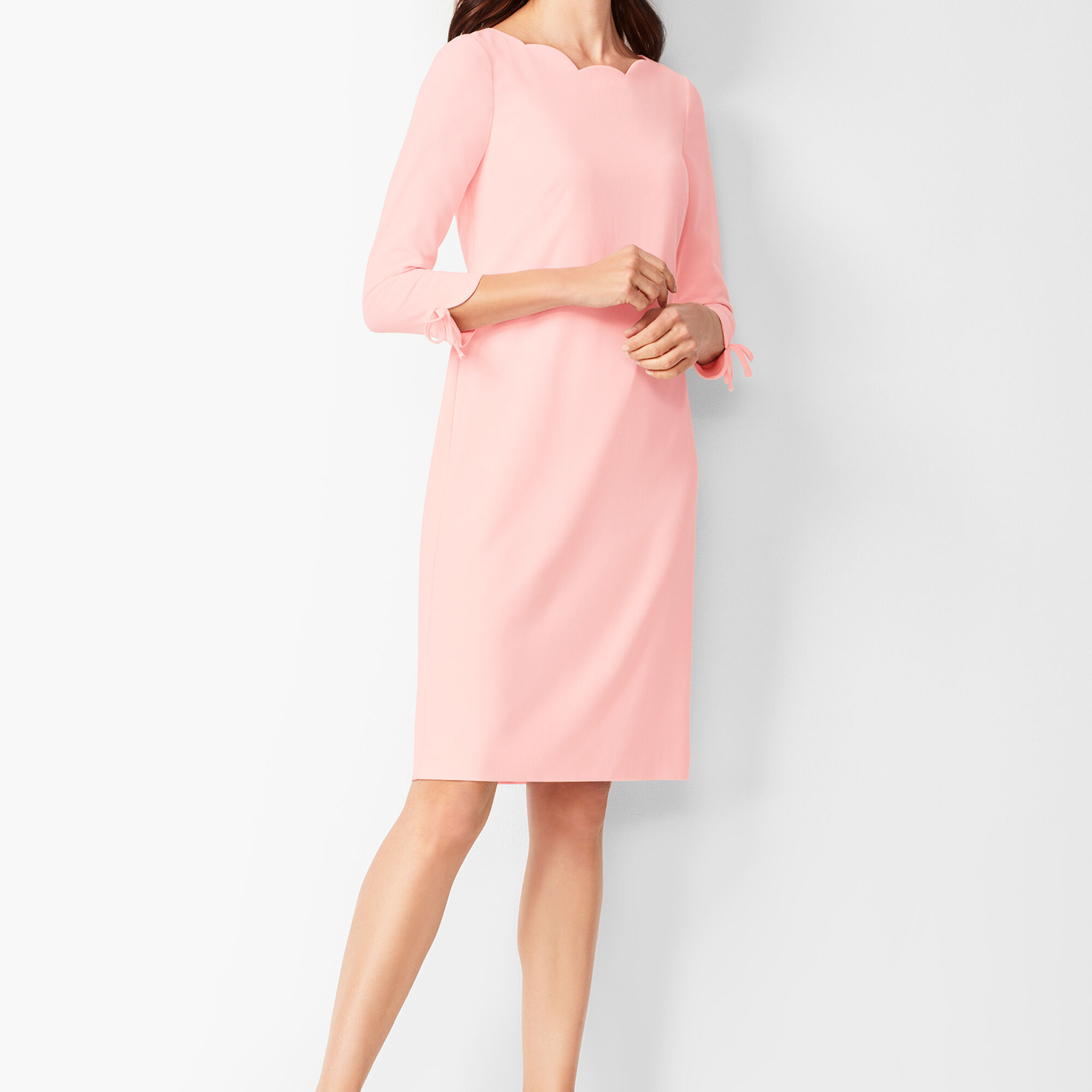 eb82e427e73 Crepe Shift Dress - Solid Opens a New Window.