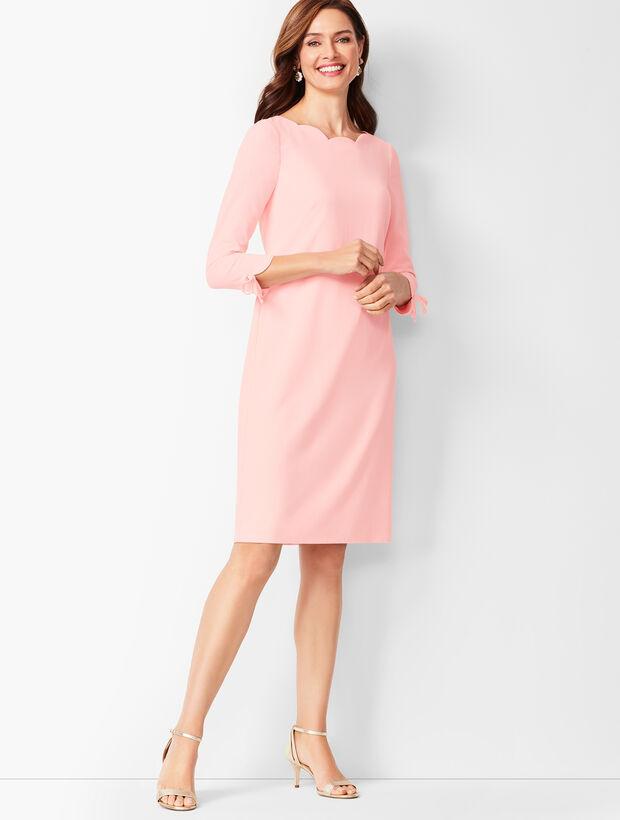 Crepe Shift Dress - Solid