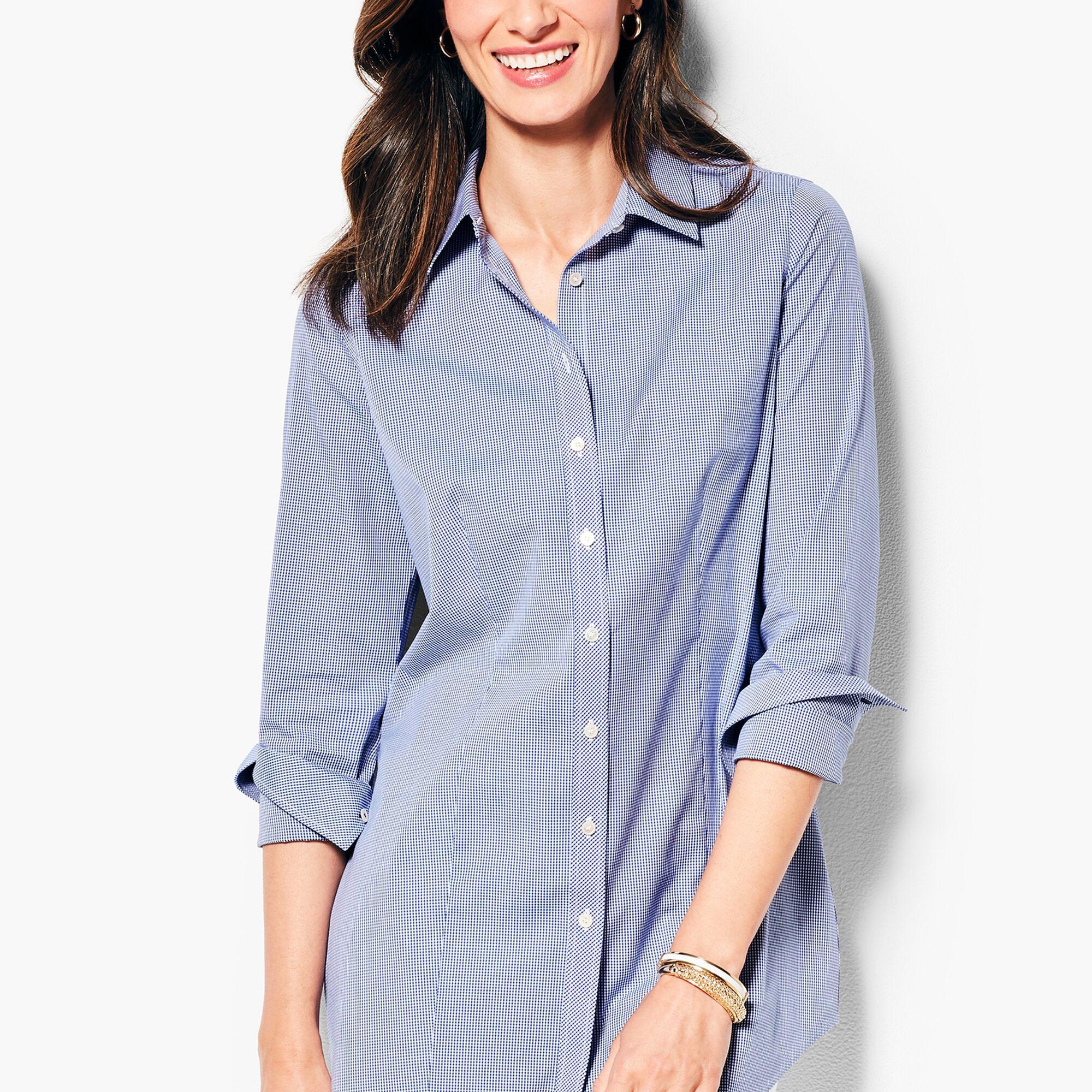 The Perfect Long Sleeve Shirt Extra Longgingham Talbots