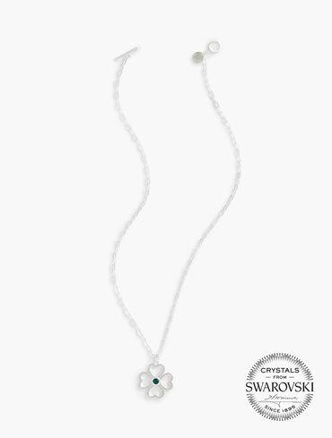 Swarovski® Emerald & Sterling Lucky In Love Pendant