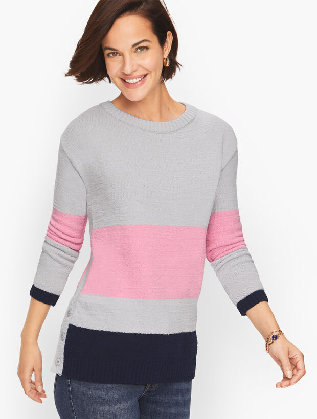 Colorblock Terry Pullover