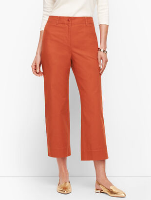 Wide Leg Crop Chinos