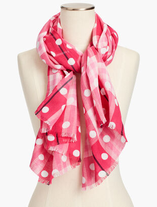 Polka Dot Plaid Scarf