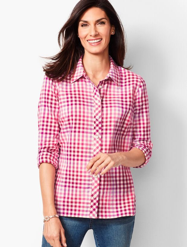 Classic Cotton Shirt - Pop Plaid