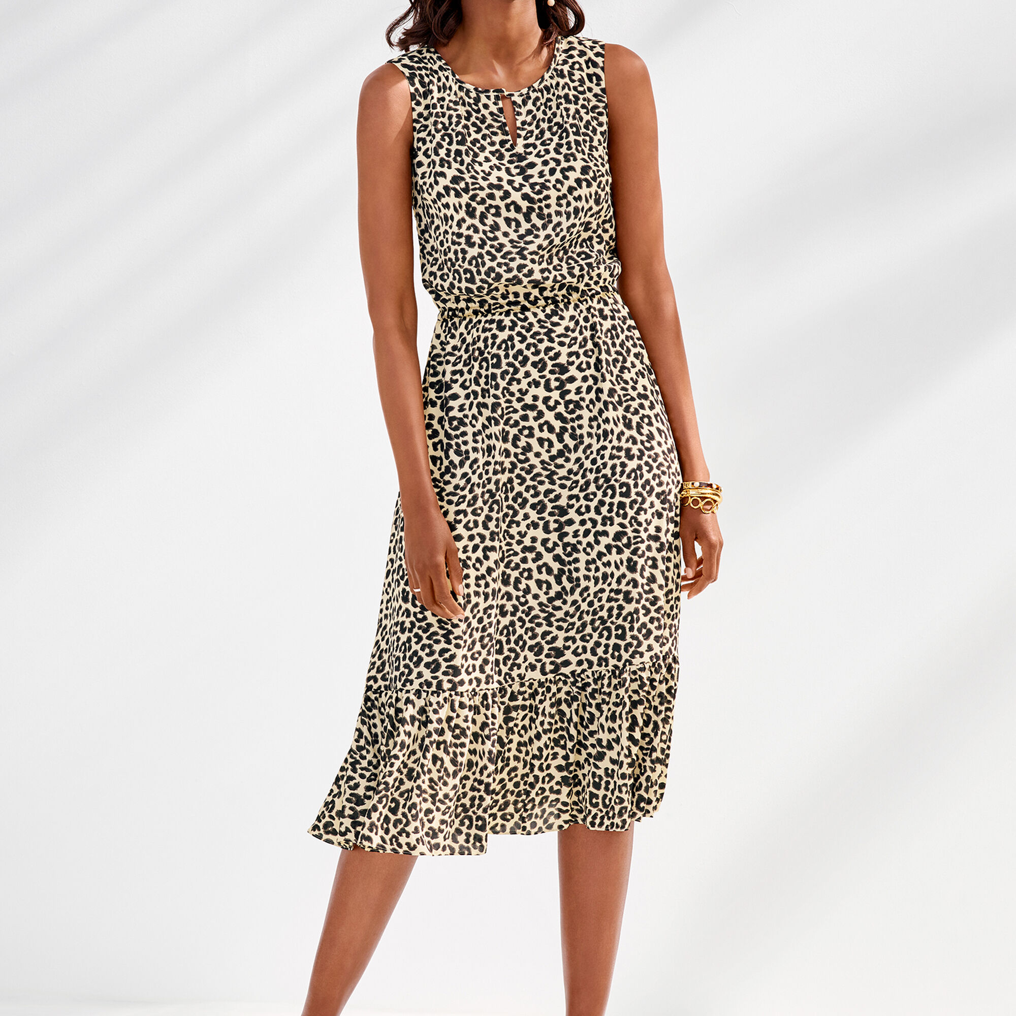 Leopard-Print Midi Dress | Talbots