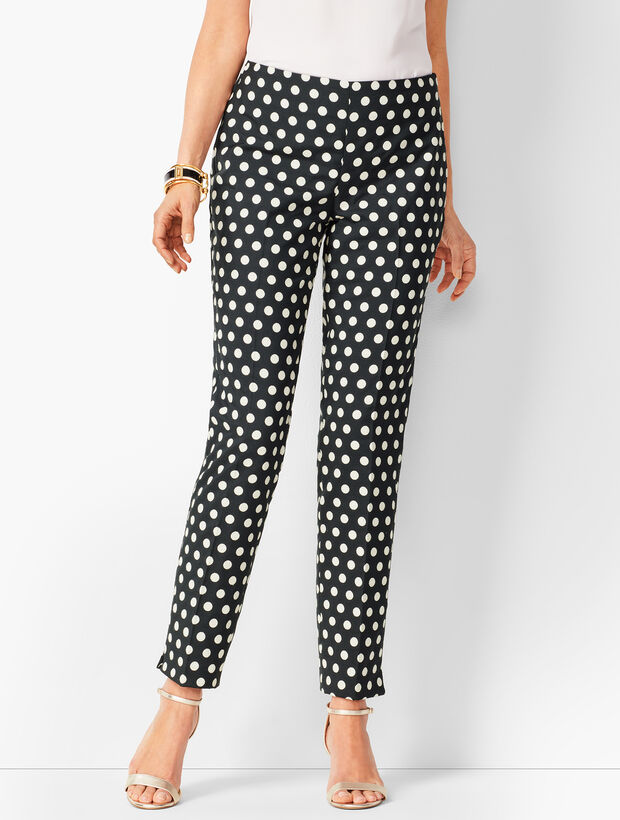Dot Jacquard Talbots Chatham Ankle Pants