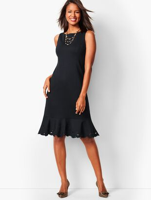 Ponte Embroidered Sheath Dress