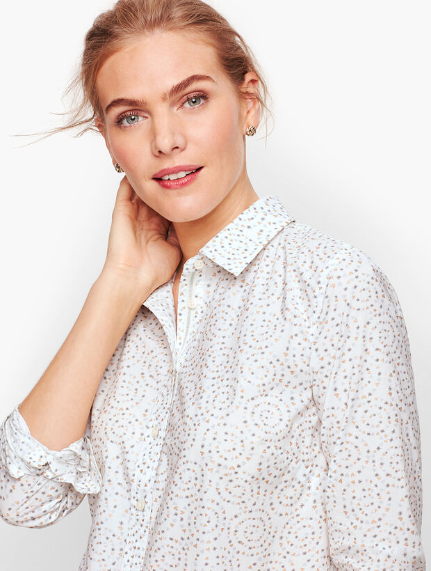 Classic Cotton Shirt - Twinkle Hearts