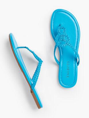 Cece Braided Keyhole Flip-Flops