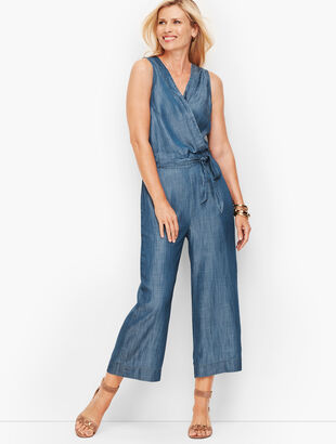 Tie-Front Jumpsuit- Denim