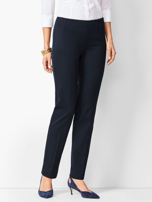 Refined Bi-Stretch Straight-Leg Pants