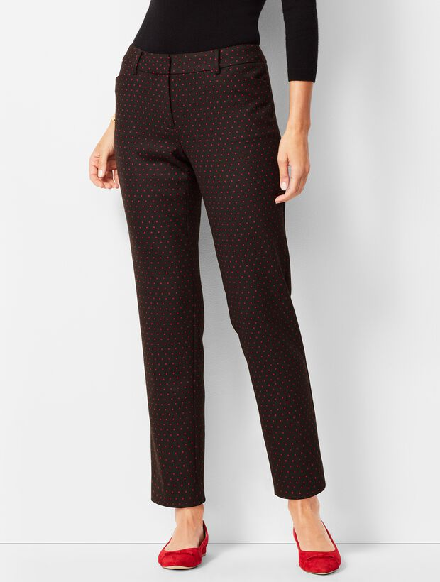Talbots Hampshire Ankle Pant - Red Dot