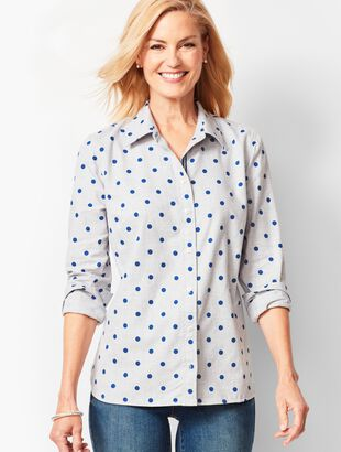 Classic Cotton Shirt - Dot Flannel