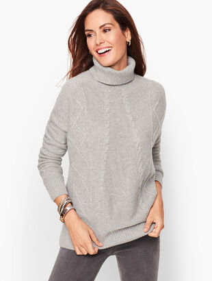 Cashmere Diamond Cable Sweater