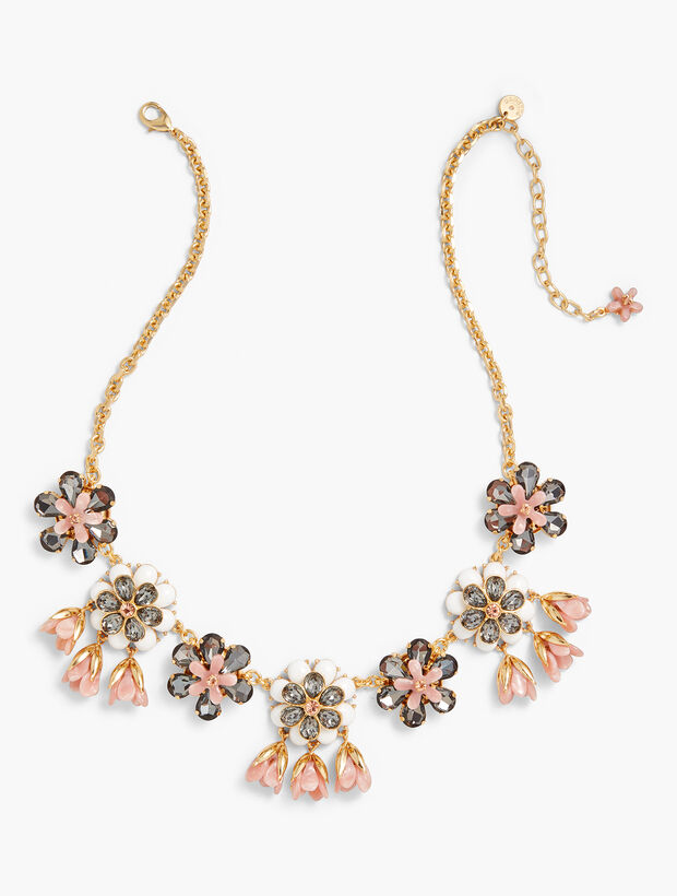 Marbled Blooms Statement Necklace